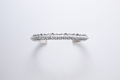 INDIAN NAVAJO 雙面三角手工打印銀手環#06嘻皮,哈雷,重機,美式,印地安