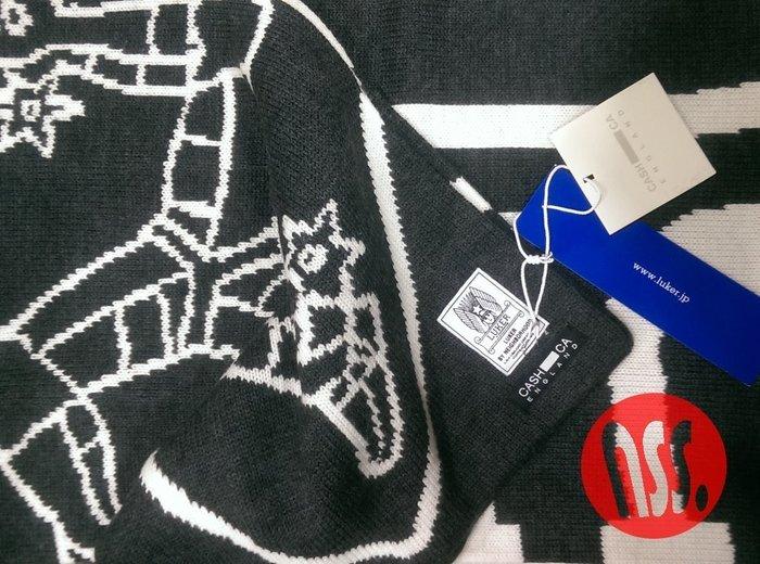 特價「NSS』 CASH CA × LUKER BY NEIGHBORHOOD SCARF MERINO 聯名 圍巾