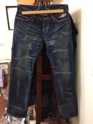 【拍賣唯一】Neighborhood 07 Scab W/SAMLL 刀疤 刀割 縫補 破壞 藍 中版 褲