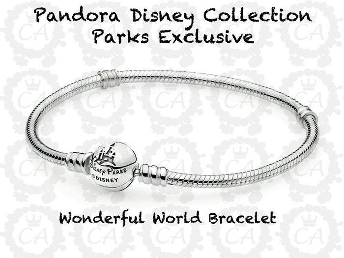【美國大街】正品美國迪士尼潘朵拉樂園限定款城堡手鍊 16cm 20cm 23cm 【附潘朵拉原廠盒子】