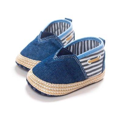 鞋鞋樂園~ 時尚牛仔休閒鞋-學步鞋-嬰兒鞋-寶寶鞋-幼兒鞋-學走鞋-童鞋-彌月贈禮-坐螃蟹車穿-促銷價125