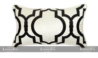 【 LondonEYE 】法夏系列-凱莉 簡練現代XMANHATTANX大牌幾何立體繡 純手工訂製抱枕套(腰)