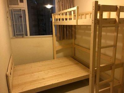 丁字床🆕高架木床❤任何尺寸定制🆕實木製造❤包安裝包送貨