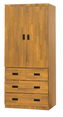 【南洋風休閒傢俱】精選時尚衣櫥 衣櫃 置物櫃 拉門櫃 造型櫃設計櫃- 集層木3*7尺衣櫥 CY182-437