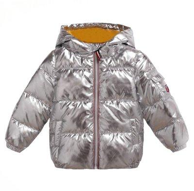 羽絨外套 童裝新款兒童羽絨棉服 太空銀色男童女童加厚寶寶保暖棉服外套潮—莎芭