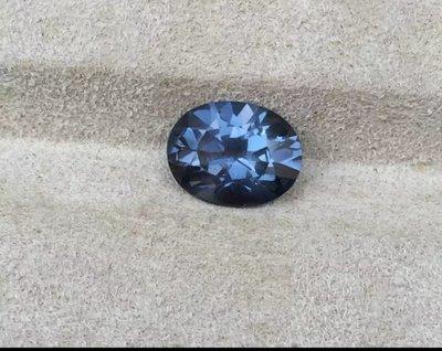 天然無燒錫蘭艷紫藍色尖晶石1.90ct