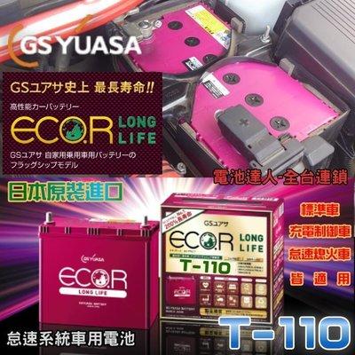 【電池達人】GS T-110 日本 鋰合金 汽車電池 柴油車 MAZDA 3 馬自達 6 CX-5 CX-7 CX-9
