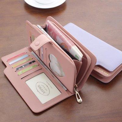 女士錢包女長款多功能手機包日韓版皮夾子拉鏈個性原宿2017新款潮