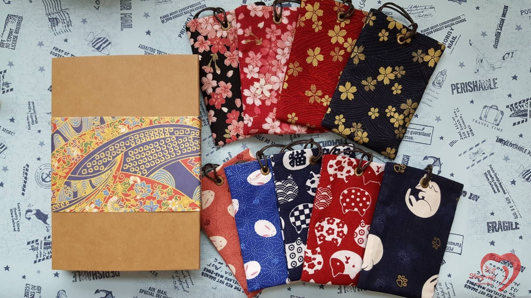 ♥ STORY SAYS ♥ 【和風系列】手創 和風花布票卡夾 棉布包 收納袋 錢包 鑰匙包
