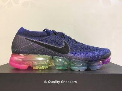現貨 - Nike Air VaporMax Flyknit Be True 深藍 彩虹 883275 400