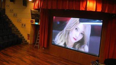 LED 230吋大型商業電視客製化安裝...