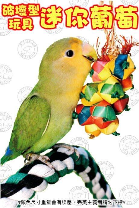 *中華鳥園*破壞型玩具-迷你葡萄(小型)/棕櫚葉手工編織玩具/鸚鵡啃咬/鸚鵡玩具