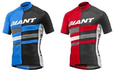 2016新品 捷安特GIANT PURSUE UPF30+防曬 吸濕排汗短袖車衣 黑藍/黑紅