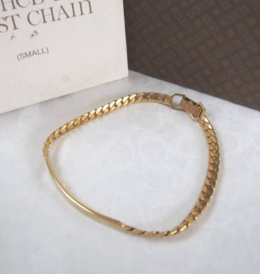 【戴大花2】經典【Avon】1977年 Polished Bar Wrist Chain 金色拋光 美品手鍊 #E172