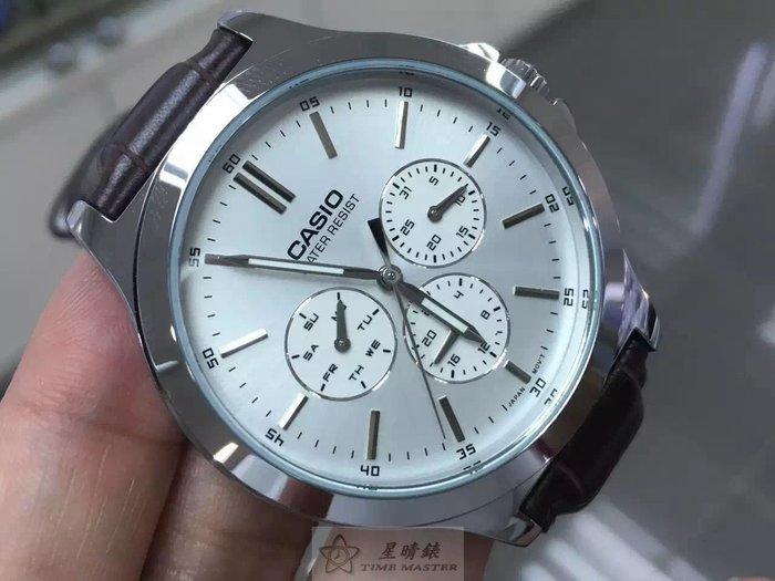 CASIO(凱西歐)石英手錶39mm表面多功能3圈款夜光指針,生活防水,皮帶,聯保