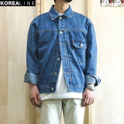 KOREALINE搖滾星球 / 都會百搭牛仔夾克外套 / 2色 EF989862