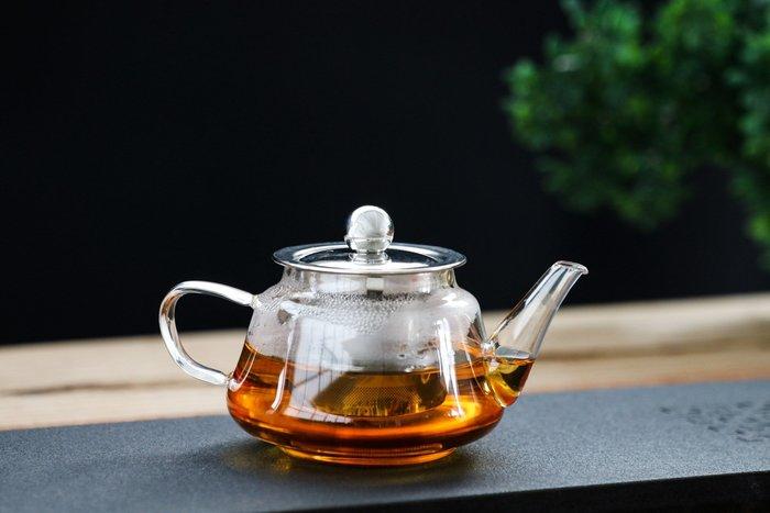【茶嶺古道】不鏽鋼內膽玻璃壺200ml / 耐熱玻璃 茶具 花茶壺 泡茶器 沖茶器 茶壺