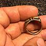 小西藏 藏傳佛教金剛杵戒指 天銅 開門老件