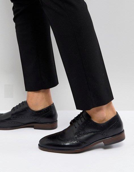 ◎美國代買◎ASOS代買巴洛克雕花設計經典百搭英倫紳士風雕花鞋帶皮鞋~歐美街風~大尺碼
