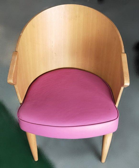 宏品二手家具 全新中古傢俱家電 B82104*粉紅皮木餐椅* 戶外休閒桌 二手桌椅 辦公桌 電腦桌書桌 台北桃園台中彰化