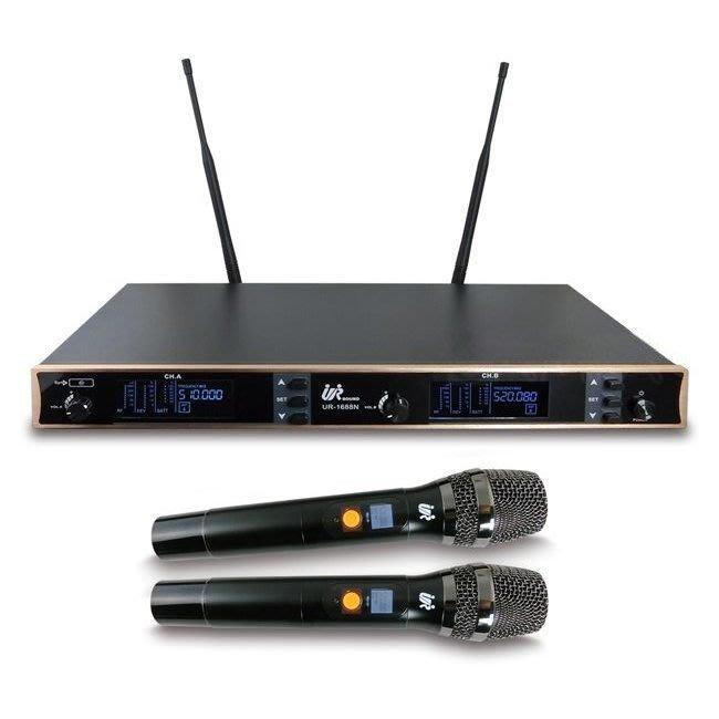 【昌明視聽】Promic 台灣普洛咪 UHF 無線麥克風 UR-1688N  附2支手持式麥克風 多頻道一鍵換頻