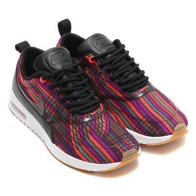 =CodE= NIKE W AIR MAX THEA ULTRA JCRD PRM慢跑鞋(黑彩虹)885021-001女