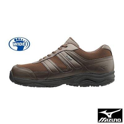 【MIZUNO 美津濃】WAVE OD100 GTX7防水 寬楦 健走鞋 /咖啡 B1GA170058 M770