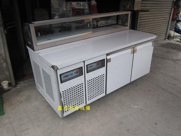 鑫忠廚房設備-餐養設備:手工冰箱系列-客製訂做工作檯卡布里冰箱(六尺)-賣場有-西餐爐-烤箱-水槽-快炒爐