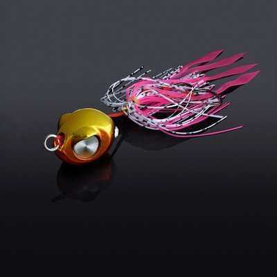 漁具 熱賣 釣魚用品~巨洋【暴雷】60克炎月鐵板路亞胡須佬亮片淡水海釣馬鮫海鱸假餌