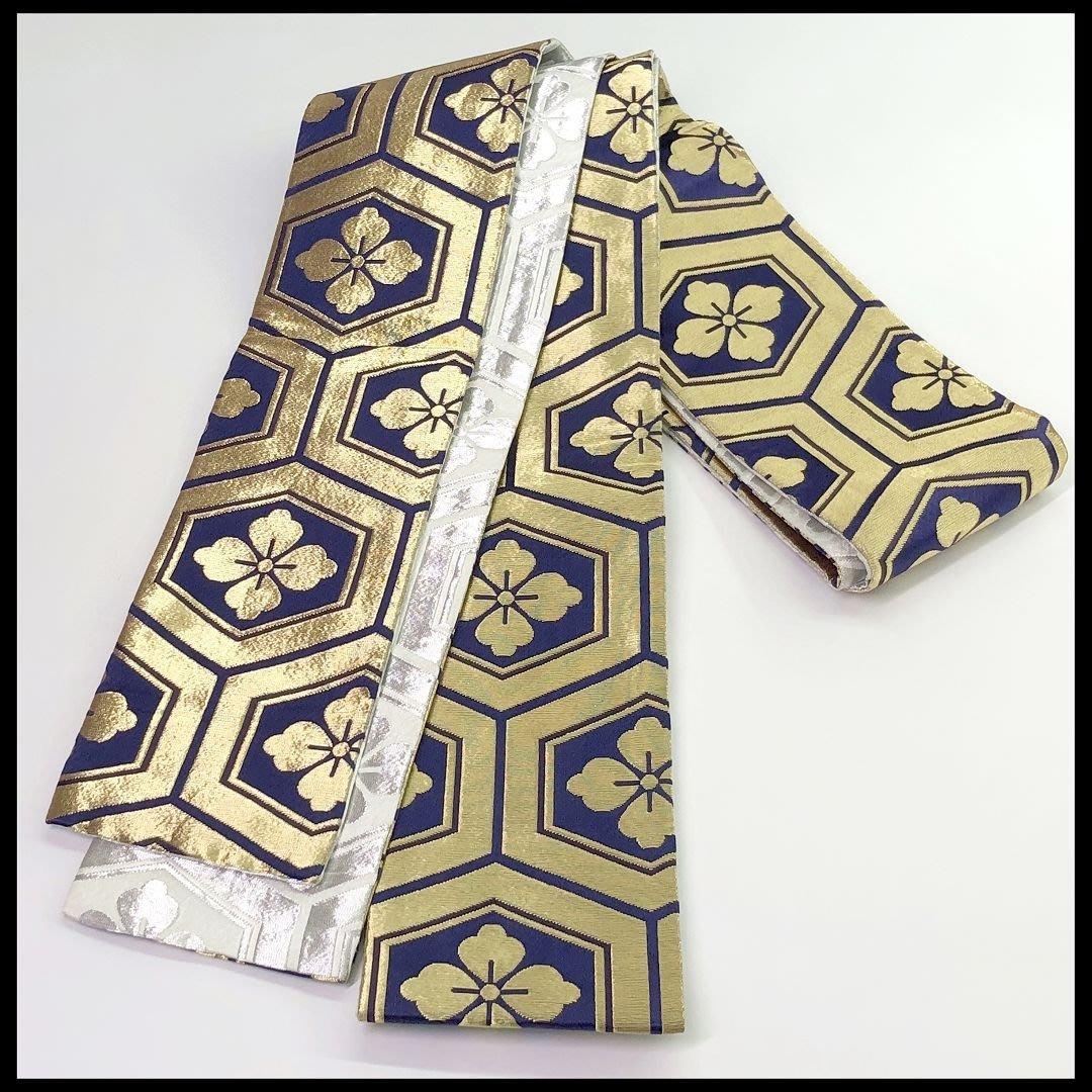 【茶】日本和服 浴衣腰帶 半幅帯 踊り帯  15-803*2979*