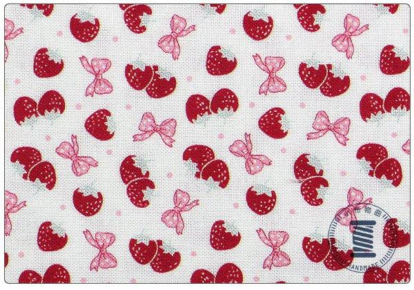 ✿小布物曲✿100%純棉布草莓系列1 窄幅110CM 韓國進口布料質感優 共3色 單價