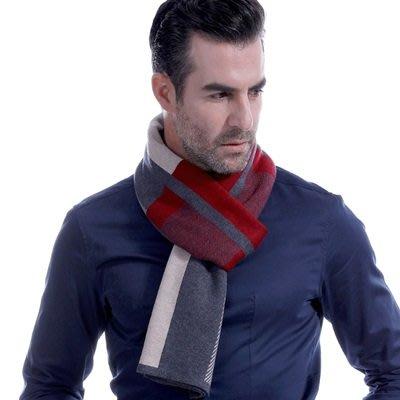 羊毛 圍 巾-紳士品味拼色方塊秋冬防寒男女披肩73ts13[獨家進口][米蘭精品]