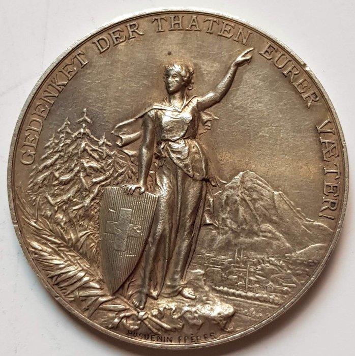 瑞士銀章 1892 Swiss GLARUS Eidg. Schützenfest Silver Medal.