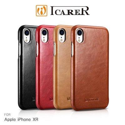 *phone寶*(預購款) ICARER Apple iPhone XR 復古曲風磁吸側掀真皮皮套 保護套