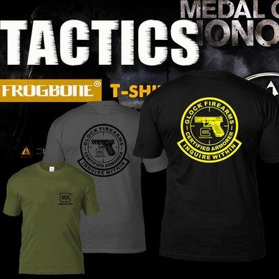骷蛙全棉夏季男圓領T恤軍迷格洛克GLOCK戰術短袖IPSC戰術體能半袖