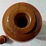 【九龍藝品】台灣紅檜 ~ 花 瓶 聚寶盆 ~ 高約24公分