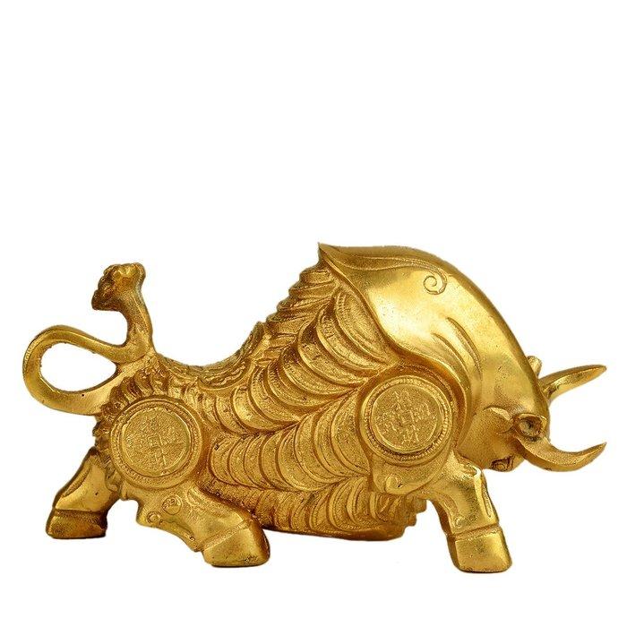 優品佛系☼銅牛擺件小中大號華爾街牛擺件金錢造型家居裝飾擺件