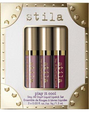 Stila Stay All Day Play It Cool liquid lipstick set 3色唇彩組 預購