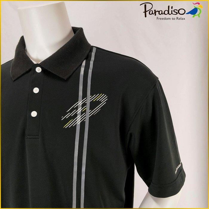 日本二手衣✈️PARADISO GOLF 黒色POLO衫 高爾夫 運動衫 POLO休閒上衣 日本男裝 O197P