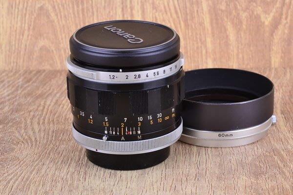 【台中品光攝影】 Canon FL 55mm F1.2 (55/1.2) 大光圈 手動 人像 #24111