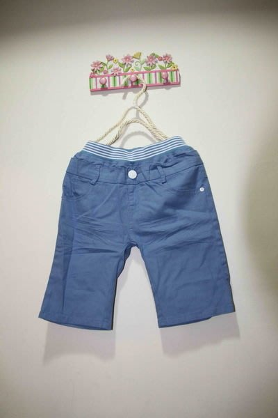 韓版藍色休閒褲