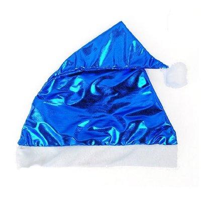 藍色 聖誕節 聖誕老人 聖誕帽 絨布 化妝 舞會 派對 BLUE COLOR PARTY CAP MERRY CHRISTMAS XMAS X229