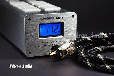 (已更換新款雙顯,保固一年 )!! AUDIO WALLE TP1000 電源濾波淨化防雷擊 10孔排插+1.5米怪獸線