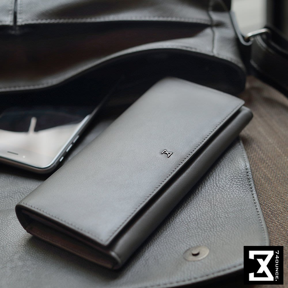 MARU`S BAGS SHOP 獨家自有品牌Plain 平紋系列真皮素面長夾手感 [N-524]