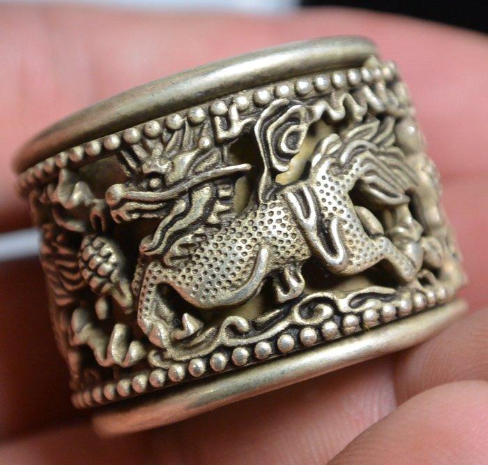 [天地居] 紋銀 藏銀 足銀 轉運扳指 戒指 麒麟
