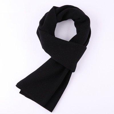 圍巾 羊毛 披肩-純色經典保暖加厚男配件6色73wh2[獨家進口][米蘭精品]