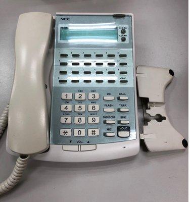 [非新品]NEC Topaz 12鍵顯示型電話(IP2U-12TXD TEL2(WH))~優良總機系統~