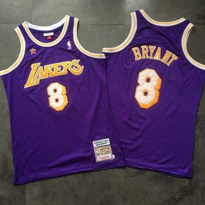 AU密繡款 湖人隊 8號Kobe Bryant 高比  98全明星賽 復古球衣 All-Star Kobe Bryant