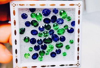 【艾琳珠寶藝術】天然沙佛萊石、藍寶石歡迎選購0.3~1.00ct