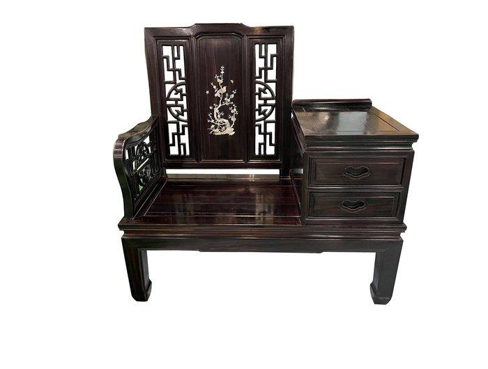 宏品二手家具館 全新中古傢俱拍賣 LG121005*黑檀2抽泡茶椅* TV電視櫃 平面矮櫃 家電 冷氣冰箱 仿古家具新竹